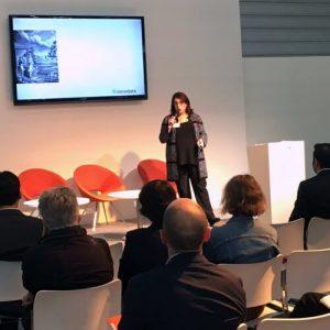 Lisa Indovino at the frankfurt bookfair